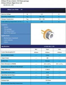 830nm1Wレーザー LD laser ld